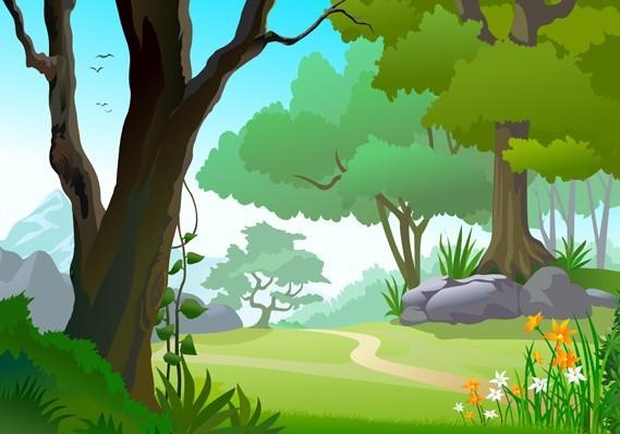 Free Vector Forest Landscape Illustration 05  TitanUI