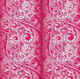 Noble Floral Damask Vector Patterns 04
