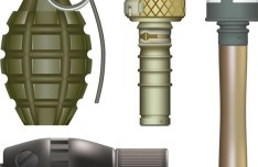 Set Of Vector Military Hand Grenades