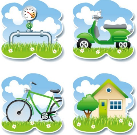 Vector ECO Lifestyle Labels