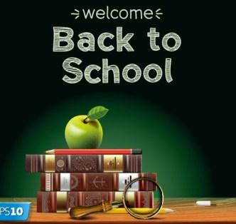 Back To School Concept Background Illustration Vector 04