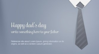 Father's Day Greeting Card Template PSD