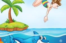 Vector Cartoon Animals and Children Illustration 04