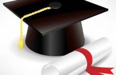 Vector Diploma and Graduation Cap 02