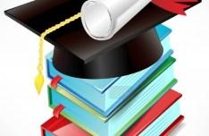 Vector Diploma and Graduation Cap 04