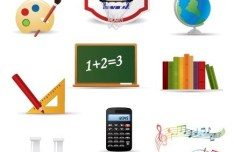 Vector Essential Stationery for Students 01