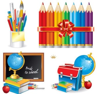 Vector Essential Stationery for Students 03
