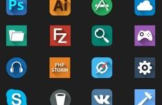 Flat Dock App Icon Set