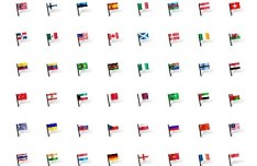Minimal National Flag Icons Pack PSD