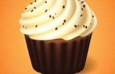 Sweet Chocolate Ice Cream Vector Icon