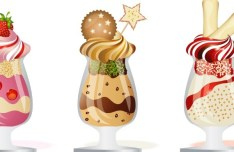 Vector Delicious Ice Cream Desserts 01
