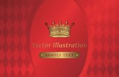 Vintage Golden Flower Cover For Menu Vector 02