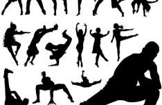 Vector Street Dance Silhouettes