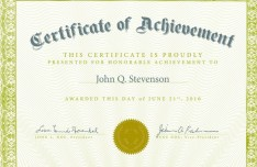 Vintage Certificate Of Achievement Design Vector 01