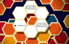 Colorful Origami Hexagon Background Vector