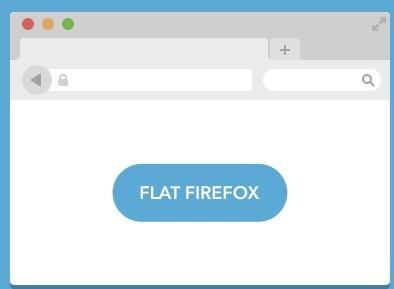 Flat Firefox PSD Mockup