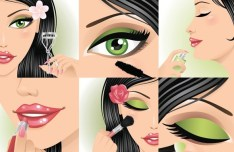 Vector Beautiful Makeup Ideas Illustration 04