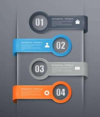 Fashion Infographic Number Options Design Elements Vector 01