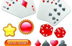 Online Gambling Website Design Elements Vector