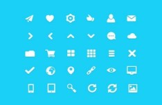 30+ Minimal Vector Web Icons Pack - FatiCons