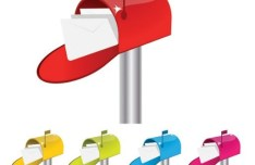 5 Colorful Vector Letters and Mailboxes