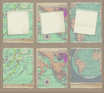 Vector Broken World Maps 02
