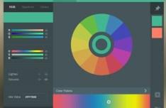 Flat Color Picker Widget PSD