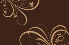 Flourish Swirl Floral Corner Patterns Vector 03