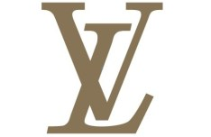 Simple Brown Louis Vuitton Logo Vector