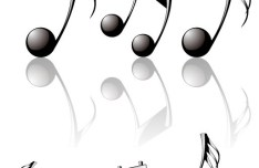 Vector Glossy Musical Notes
