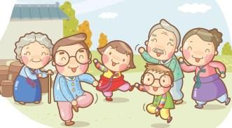 Cartoon Happy Family Illustration Vector