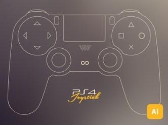 Play Station 4 Joystick Mockup Vector