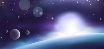 Blue Science Space Background Vector 03