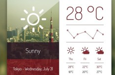 Elegant Weather Dashboard PSD