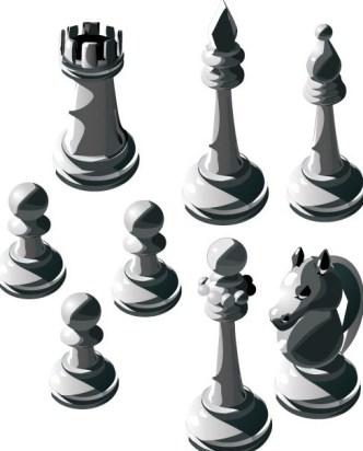 Vector Chess Design Elements Illustration 04