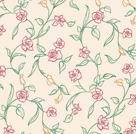 Free Vector Small Flower Pattern Background 04