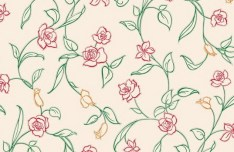 Vector Small Flower Pattern Background 04