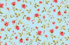 Vector Small Flower Pattern Background 05