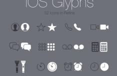 iOS Glyph Icons Retina PSD