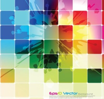 Abstract Colored Blocks Background Vector 01