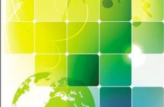 Abstract Colored Blocks Background Vector 03