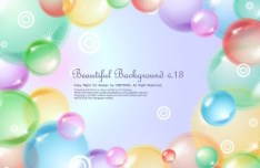 Beautiful Colored Bubbles Background Vector 03