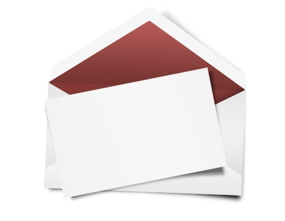 Blank White Envelope and Letter Paper Template PSD