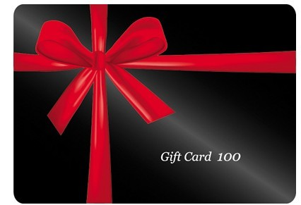 Free Dark Gift Card With Red Ribbons Vector  TitanUI