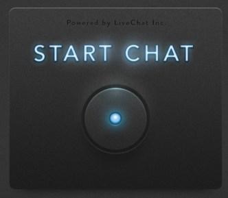 Sleek Dark Live Chat Button PSD