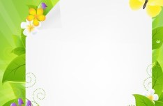 Fresh Summer Garland Frame Vector 01