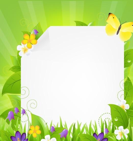 Fresh Summer Garland Frame Vector 01