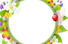 Fresh Summer Garland Frame Vector 03