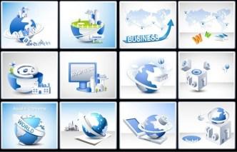 Set Of Vector Business Technology Design Elements 02