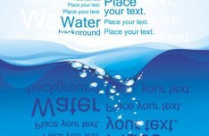 Abstract Sea Water with Letters Background Vector